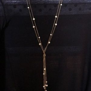 Jewelry - ** 3 for $45 SALE ** Pearl-Beaded Long Necklace